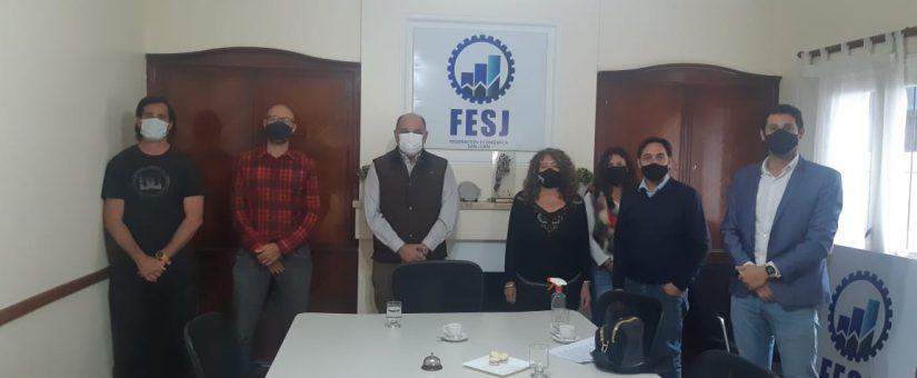 La FESJ recibió a Carlos Pelli presidente de AAETAV