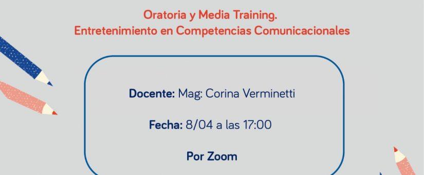 """Taller """"Oratoria y Media Training. Entretenimiento en Competencias Comunicacionales"""""""
