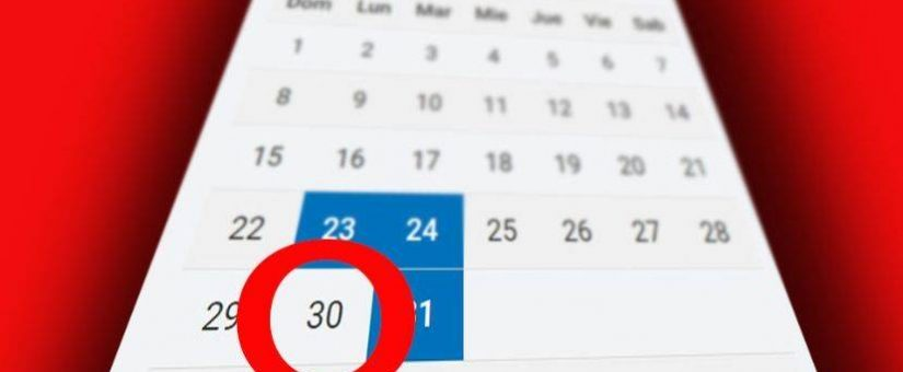 ¿Qué pasará con los días 30 y 31 de marzo?
