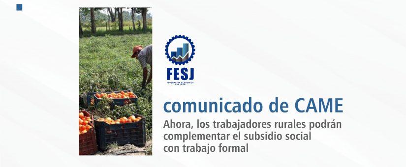 Oportunidad para trabajadores rurales