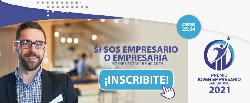 Lanzan el  Premio Joven Empresario Sanjuanino edición 2021