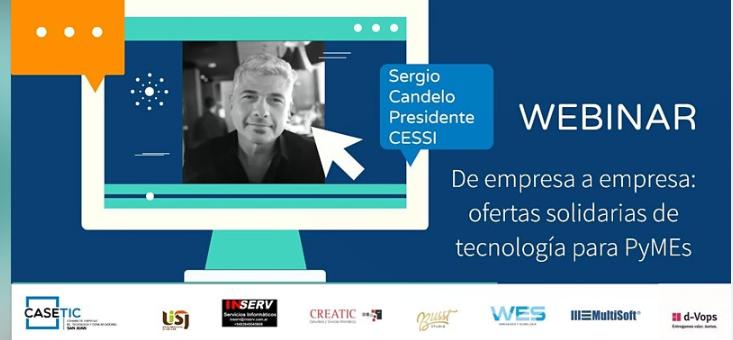"""WEBINAR gratuito: """"De empresa a empresa: oferta solidarias de tecnología para PyMEs"""""""