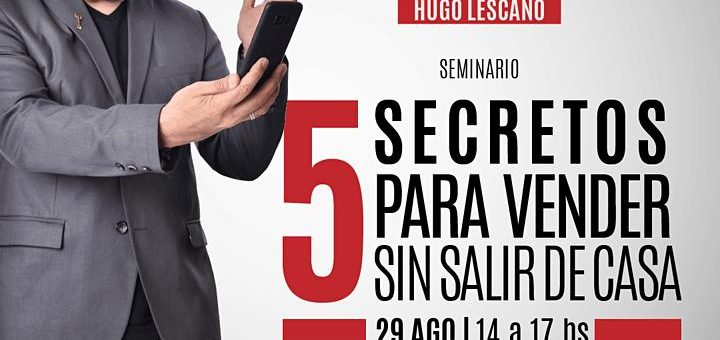 "Seminario ""5 secretos para vender sin salir de casa"""