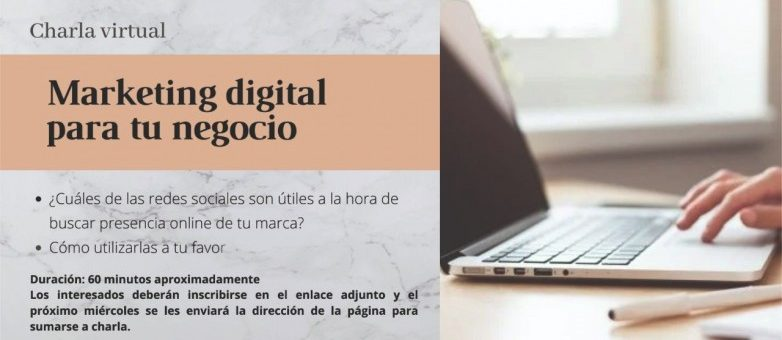 """Realizarán la charla """"Marketing digital para tu negocio"""""""