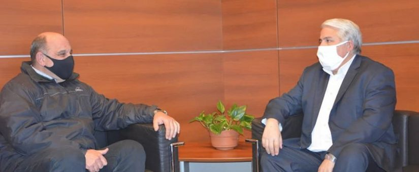 Dino Minnozzi charló con el Ministro Díaz Cano sobre reactivación económica